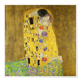 Poster  The kiss - Gustav Klimt
