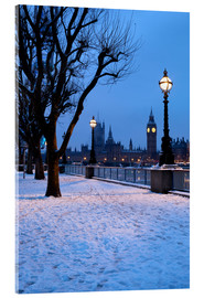 Acrylic print  South Bank in winter - Stuart Black