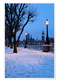 Premium poster South Bank in winter