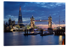 Acrylic print  The Shard and Tower Bridge at night - Stuart Black