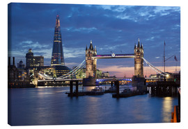 Canvas  The Shard and Tower Bridge at night - Stuart Black