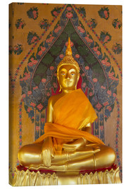 Canvas print  Gold Buddha statue in Wat Arun (The Temple of Dawn), Bangkok, Thailand, Southeast Asia, Asia - Stuart Black