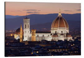 Alu-Dibond  Duomo at night from Piazza Michelangelo, Florence, UNESCO World Heritage Site, Tuscany, Italy, Europ - Stuart Black