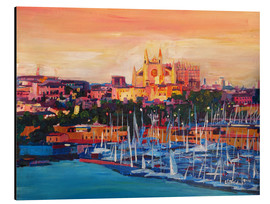 Aluminium print  Spain Balearic Island Palma de Mallorca with Harbour and Cathedral - M. Bleichner