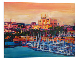 Forex  Spain Balearic Island Palma de Mallorca with Harbour and Cathedral - M. Bleichner