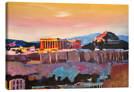 Canvas print  Athens Greece Acropolis At Sunset - M. Bleichner
