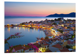 Foam board print  Dusk in Pythagorion, Greece - Stuart Black