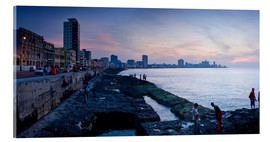 Acrylic print  The Malecon, Havana, Cuba, West Indies, Central America
