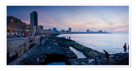 Premium poster The Malecon, Havana, Cuba, West Indies, Central America