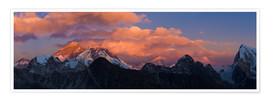 Premium poster  Sunrise over Tibet