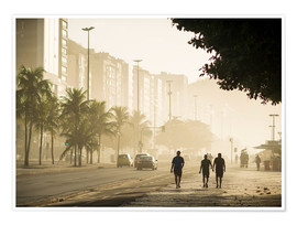 Premium poster  Copacabana at dawn