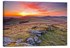 Canvas  Dawn in Dartmoor National Park - Julian Elliott