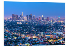 Foam board print  Cityscape of the Los Angeles skyline at dusk, Los Angeles, California, United States of America, Nor - Chris Hepburn