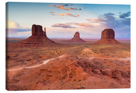 Canvas print  Monument Valley at dusk - Chris Hepburn