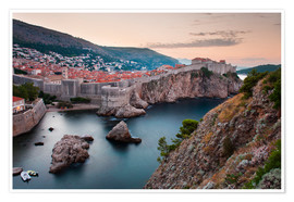 Premium poster  Dubrovnik at sunrise - Matthew Williams-Ellis
