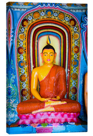 Canvas  Colourful Buddha statue at Isurumuniya Vihara, Anuradhapura, UNESCO World Heritage Site, Sri Lanka,A - Matthew Williams-Ellis