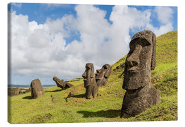 Canvas  Moai sculptures at Rano Raraku - Michael Nolan
