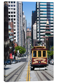Canvas print  Cable car crossing California Street - Gavin Hellier