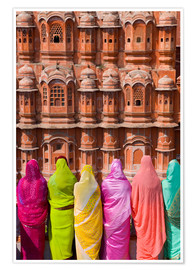 Premium poster Women in front of the Hawa Mahal
