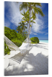 Acrylic glass  Hammock on tropical beach - Sakis Papadopoulos