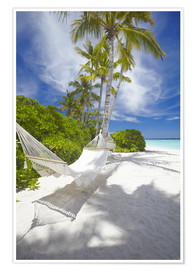 Premium poster  Hammock on tropical beach - Sakis Papadopoulos