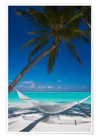 Premium poster Hammock on a tropical beach