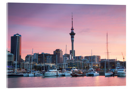 Acrylic print  Viaduct Harbour and Sky Tower, Auckland - Ian Trower