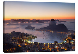 Canvas  Sugarloaf Mountain and Botafogo Bay - Ian Trower