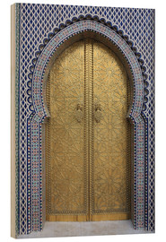 Wood print  Royal Palace Gates, Fez - Vincenzo Lombardo