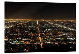 Acrylic print  Los Angeles at night - Wendy Connett