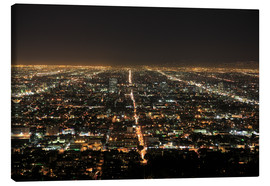 Canvas  Los Angeles at night - Wendy Connett