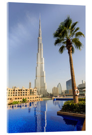 Acrylic print  Pool and Burj Khalifa - Amanda Hall
