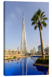 Canvas print  Pool and Burj Khalifa - Amanda Hall
