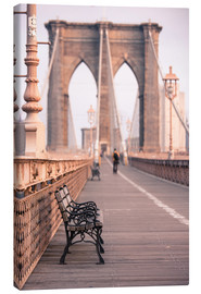 Canvas print  Bank on the Brooklyn Bridge - Amanda Hall