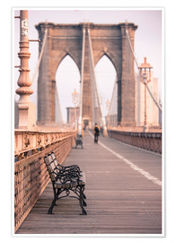 Premium poster  Bank on the Brooklyn Bridge - Amanda Hall