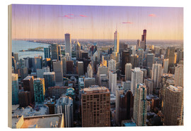 Wood print  Chicago skyline - Amanda Hall
