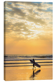 Canvas print  Surfer, Playa Guiones, Nicoya - Robert Francis