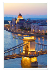 Premium poster Budapest with River Danube