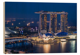 Wood print  Marina Bay Sands Hotel - Gabrielle & Michel Therin-Weise