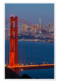 Poster  Golden Gate Bridge - Miles Ertman