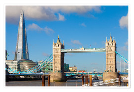 Premium poster  The Shard & Tower Bridge - Miles Ertman