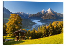 Canvas print  Berchtesgaden with Mt. Watzmann - Miles Ertman