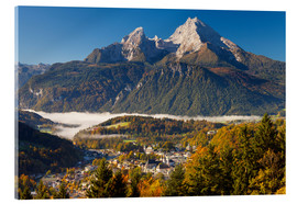 Acrylic glass  Berchtesgaden with Mt. Watzmann - Miles Ertman