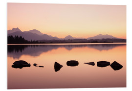Foam board print  Hopfensee Lake at dusk - Markus Lange