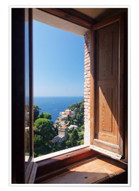 Premium poster View of Portofino