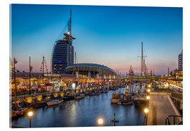 Acrylic glass  Sail 2015 Klimahaus - Havenwelten Bremerhaven at night - Rainer Ganske