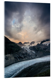 Acrylic print  Sunset view from Chamanna Boval, Pontresina, Engadin, Switzerland - Peter Wey