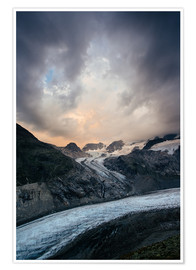 Premium poster Sunset view from Chamanna Boval, Pontresina, Engadin, Switzerland