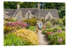 Acrylic print  Romantic Cottage garden in the Cotswolds (England) - Christian Müringer