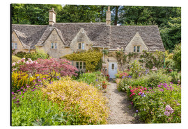 Aluminium print  Romantic Cottage garden in the Cotswolds (England) - Christian Müringer